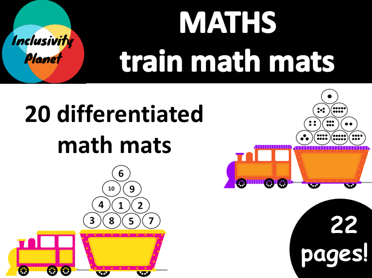 Train MATH MATS numbers and counting 1-10