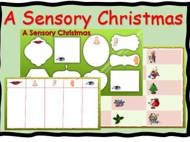 A sensory Christmas Activity