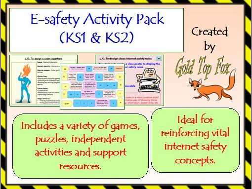 E-safety Activity Pack (KS1 and KS2 internet safety)