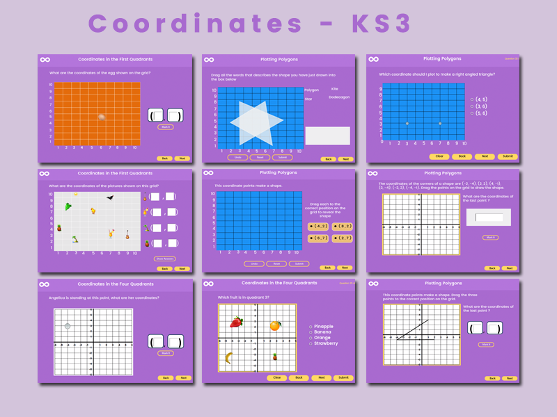 Coordinates - Key stage 3 (US 6th - 8th grade)
