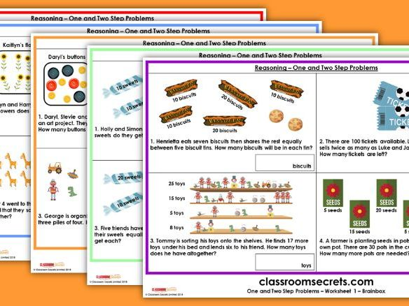 SATs KS1 Reasoning One and Two Step Problems Test Practice