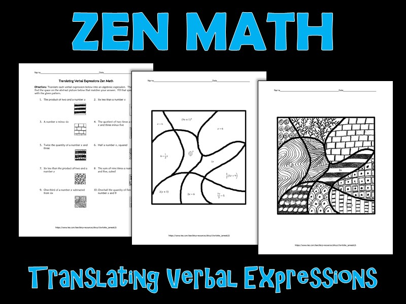 Translating Verbal Expressions Zen Math