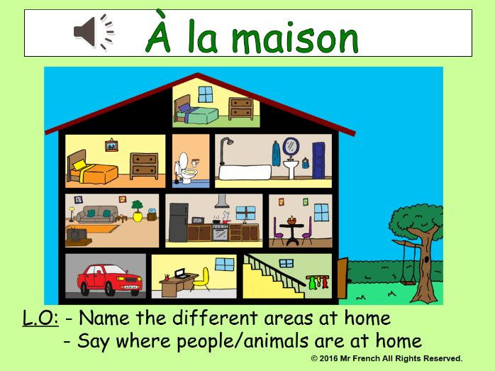A la maison french in the house 3 lessons y4 3rd grade for A la maison french