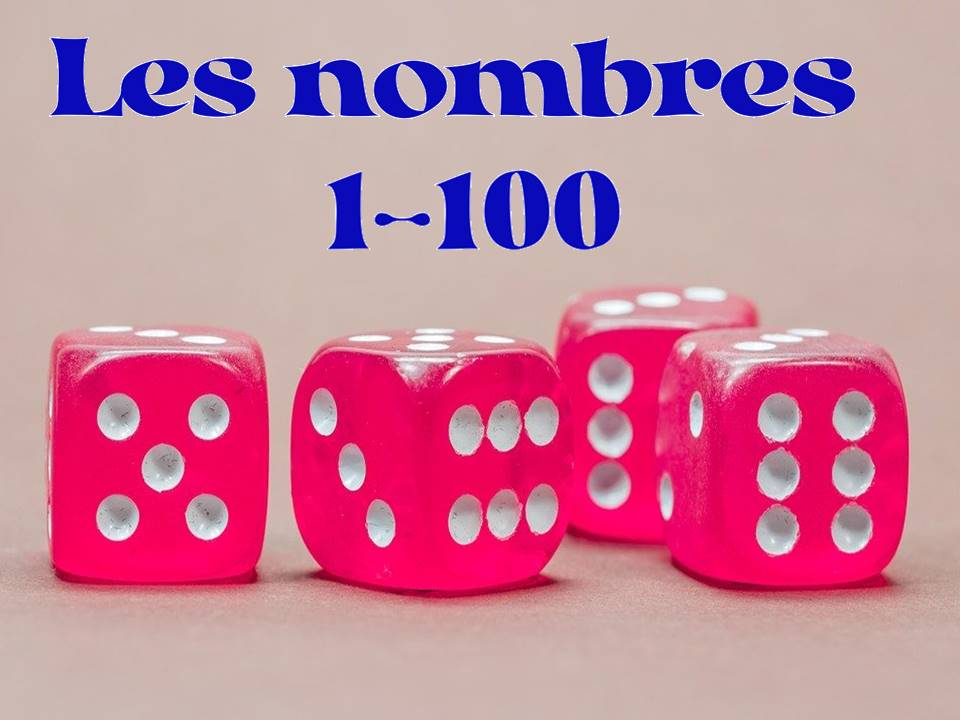 Numbers 1-100 in French