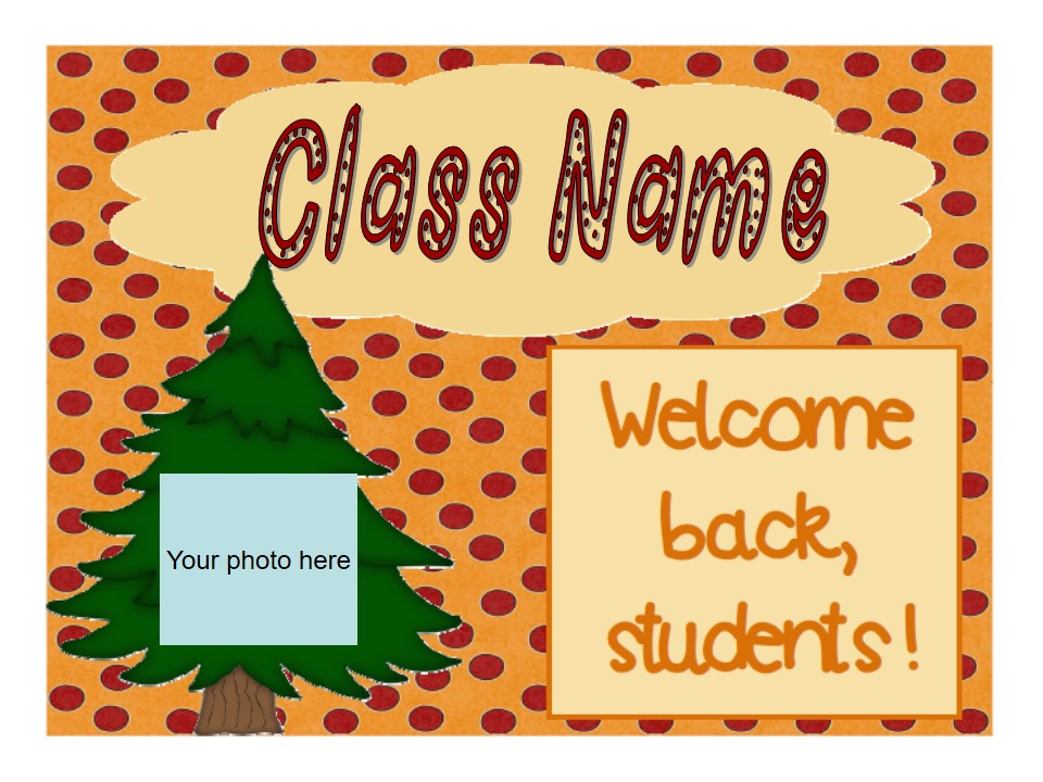 Back to School/Meet The Teacher/Open House Slideshow - Great Outdoors Theme (suitable for UK and US)