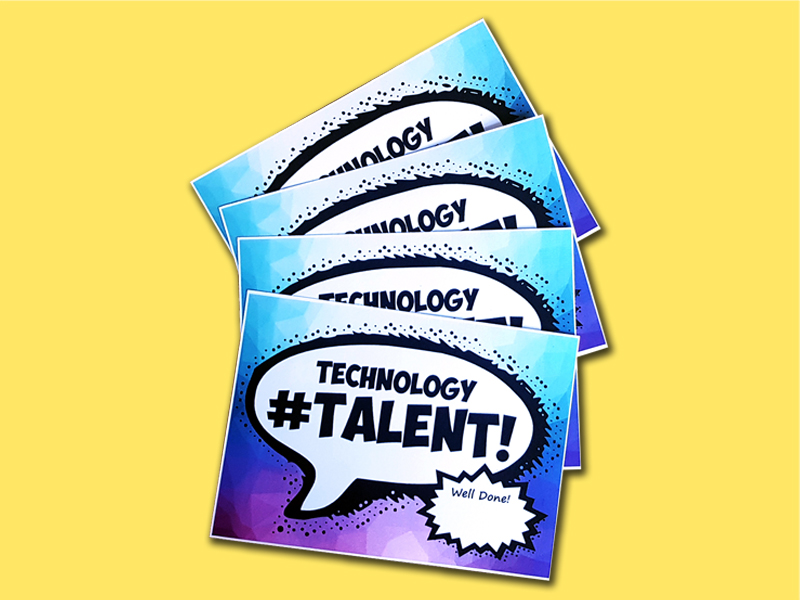 Technology Talent Postcards