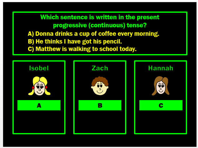 Present Tense PPT Powerpoint Game by Grammatickx