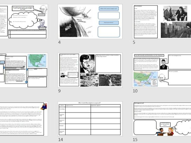 Edexcel GCSE Superpowers Relations 1958-1970 booklet and PowerPoints