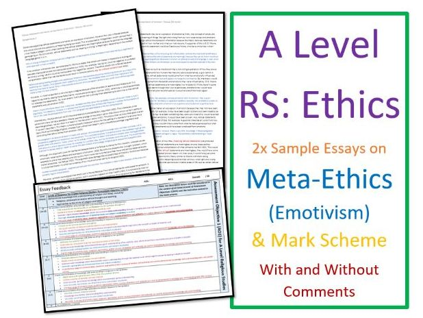 A Level Religious Studies: Model Essays for Meta-Ethics: Emotivism