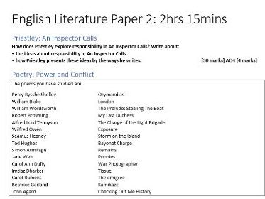 AQA English Literature Sample Papers