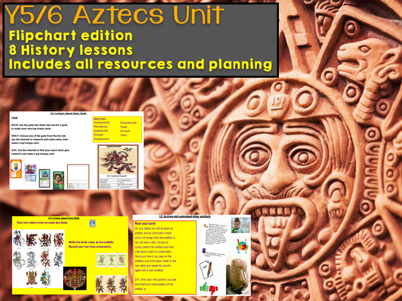 Y4 / Y5 / Y6 Aztecs Unit with 8 History Lessons