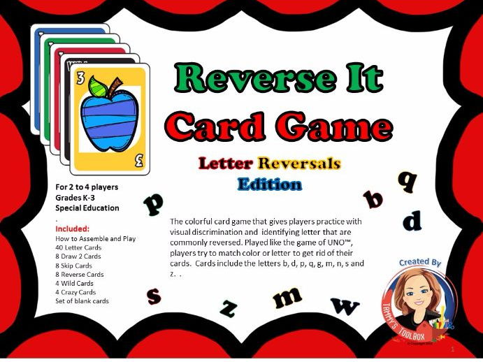 Reverse It Letter Reversal Card Game