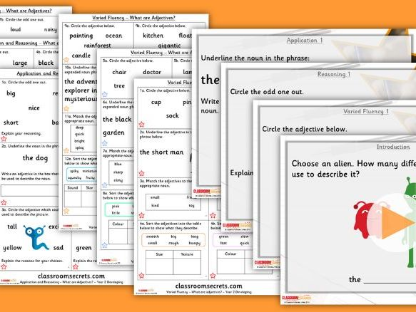 Grammar Year 2 What are Adjectives? Autumn Block 3 Step 2 Lesson Pack