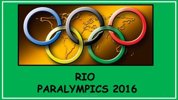 Rio Paralympics Games 2016