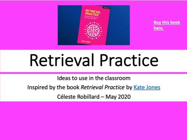 Retrieval Practice activities