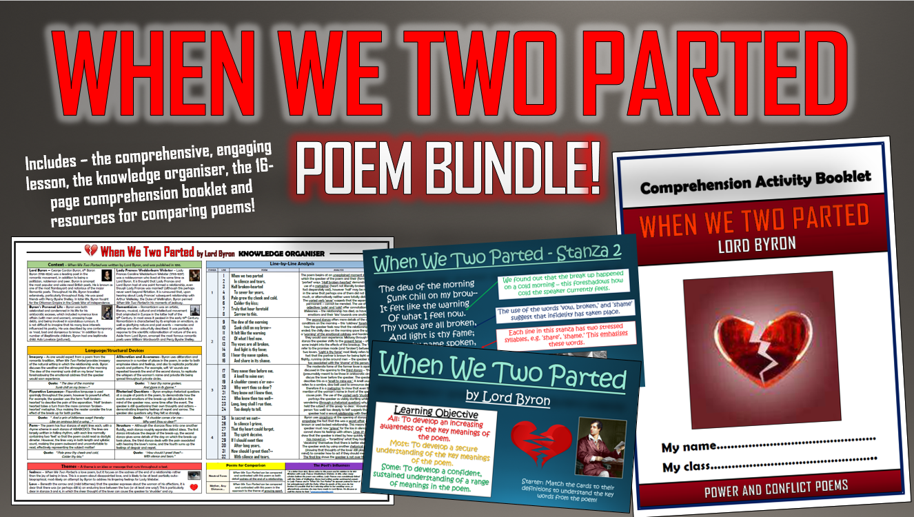 When We Two Parted Poetry Bundle!