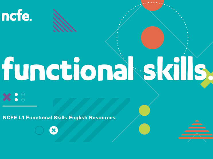 NCFE L1 Functional Skills English Resources