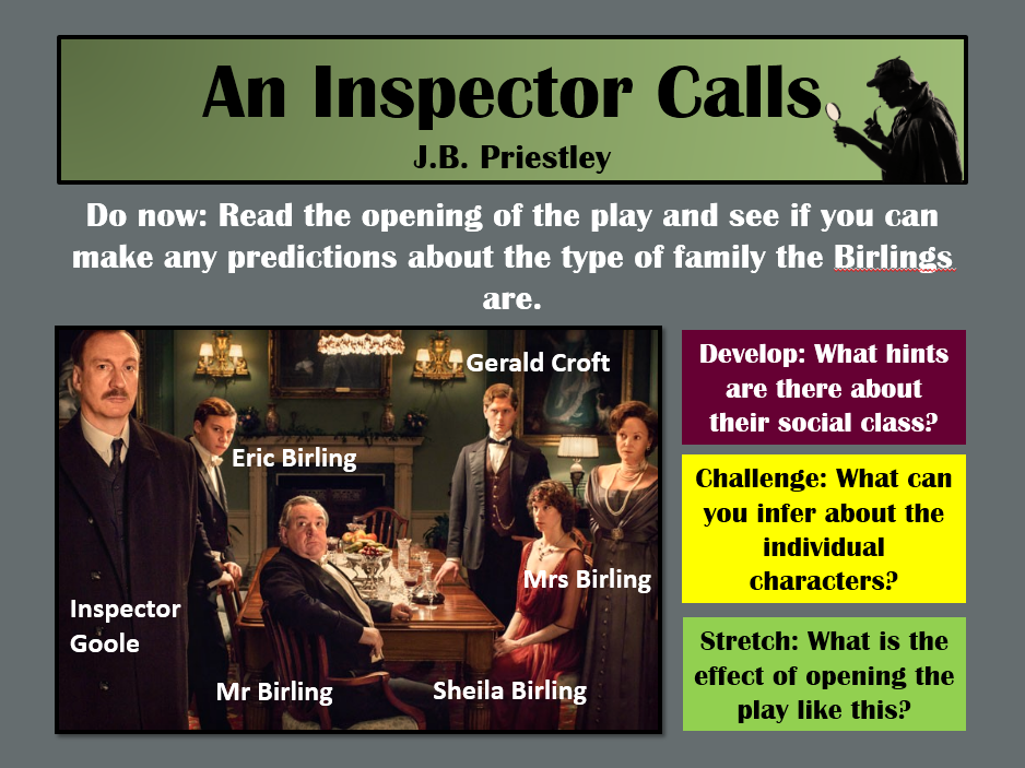 An Inspector Calls GCSE- Full SOW