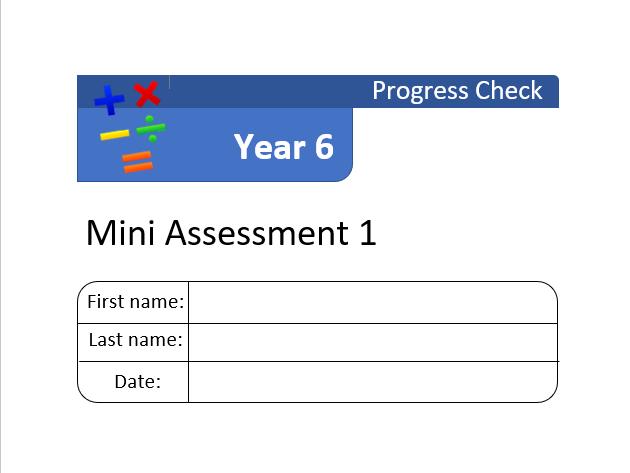 Year 6 Mini Assessment Set