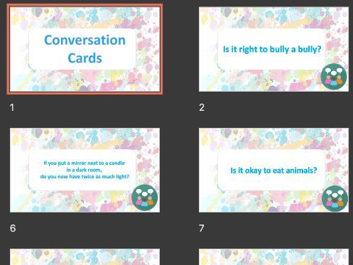 Conversation Cards KS2/KS3