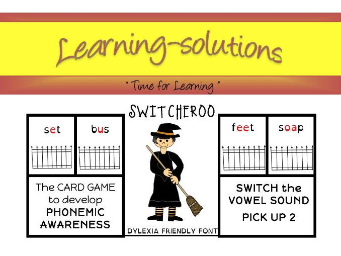 PHONEMIC DEVELOPMENT - SWITCHEROO CARD GAME - Phase 2 - 8 games - long vowels and blends