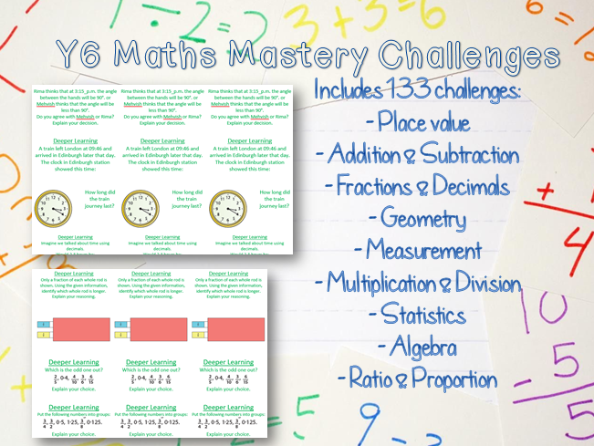 x133 Y6 Maths Mastery Challenges