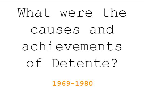 Detente/The Cold War