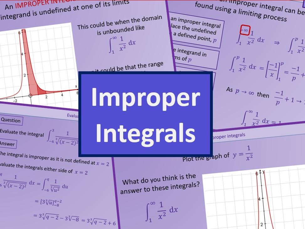 Improper Integrals - Further maths A level A2