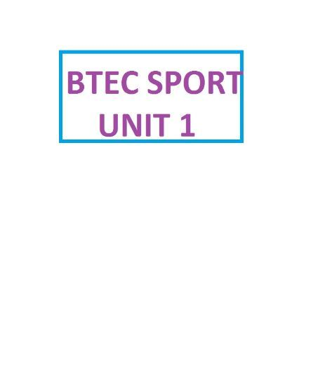 BTEC SPORT Cardiovascular Worksheets for Unit 1, Nationals L3