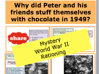 *FULL LESSON* Why did Peter and his friends stuff themselves with chocolate in 1949? world war 2