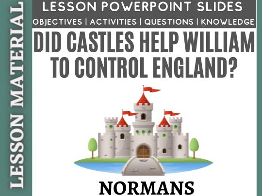 Did castles help William control England?