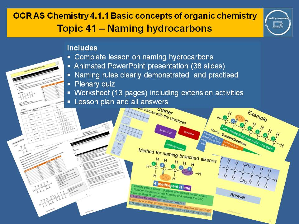 Naming hydrocarbons - OCR AS Chemistry
