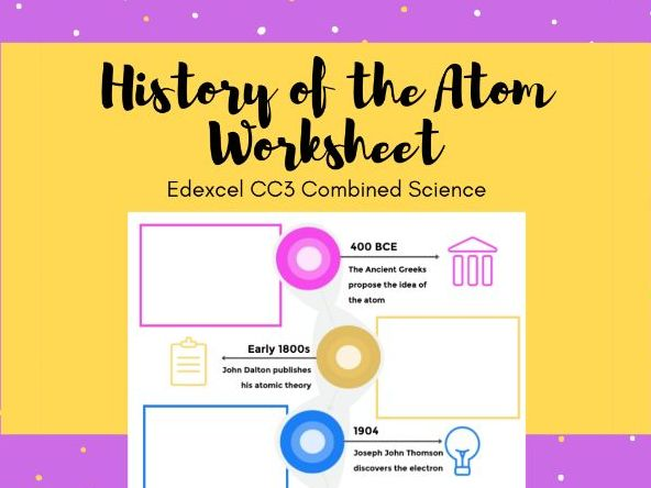 CC3a History of the Atom Worksheet