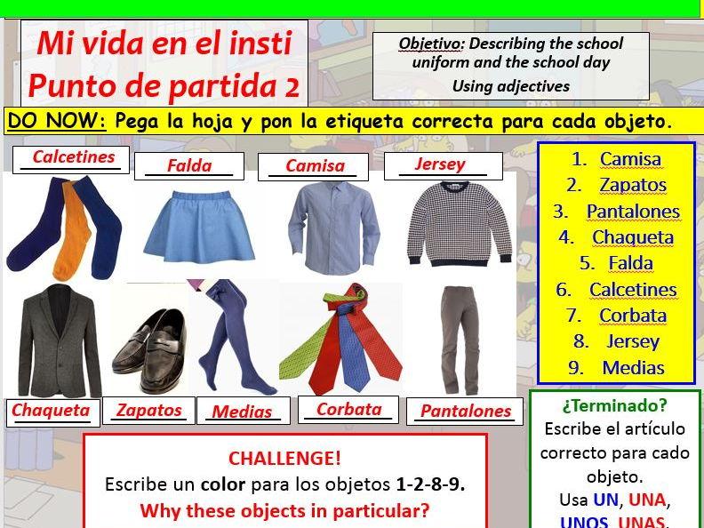 COMPLETE VIVA GCSE FOUNDATION module 2 unit 2 - MI VIDA EN EL INSTI - PUNTO DE PARTIDA 2 pptx