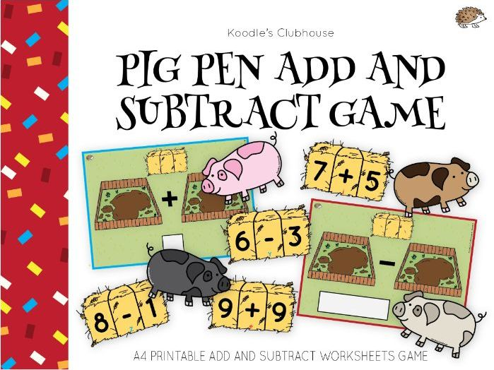 Chinese New Year Addition and Subtraction (Pig Theme)