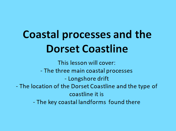 Coastal processes and The Dorset Coastline