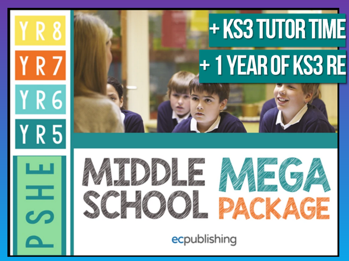 Complete Middle School PSHE with Tutor Time + RE