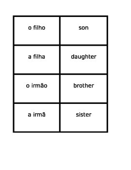 Familia (Family in Portuguese) Concentration games