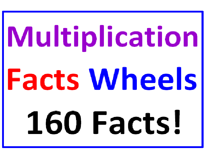 Multiplication Facts WHEELS (160 Facts)