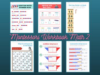 Montessori Math Workbook Level 2 for Ages 4-5