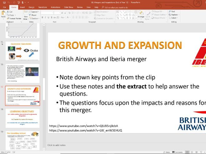 03. Mergers and Acquisitions (Slides, Activities and Notes) - Edexcel A-Level Economics - Theme 3
