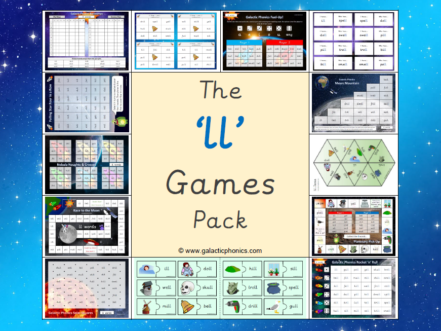 The 'll' Phonics Games Pack