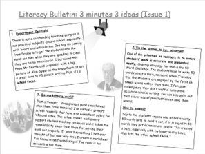 Literacy Newsletter (Issue 1)
