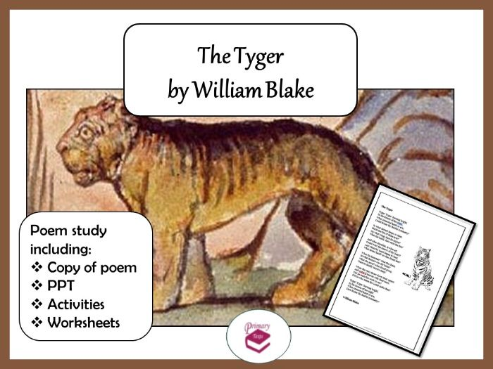 The Tyger:  PPT, poem and worksheets for KS2