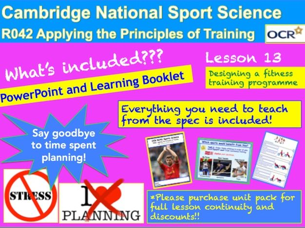 Cambridge National Sports Science R042: Designing a fitness-training