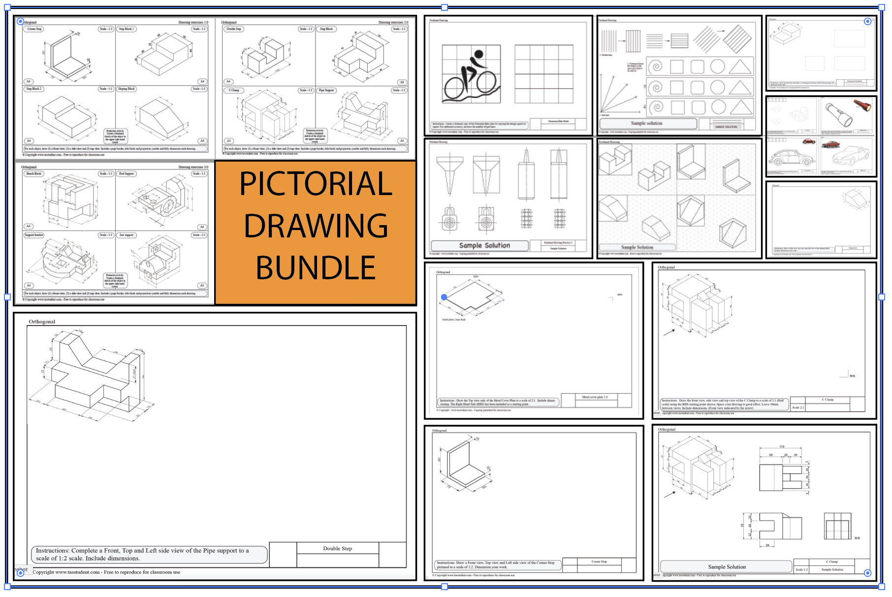 Pictorial Drawings Bundle