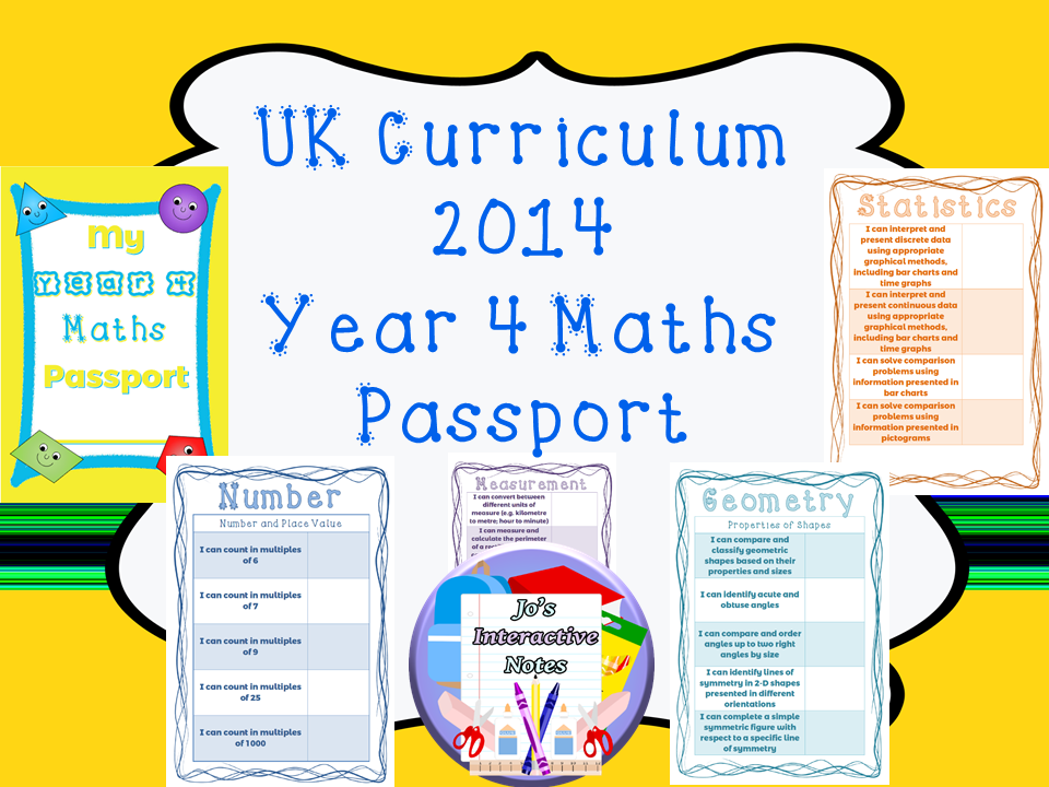 Year 4 National Curriculum Maths Passport