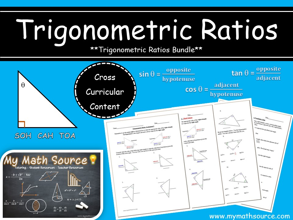 Trigonometric Ratios : Activities Bundle