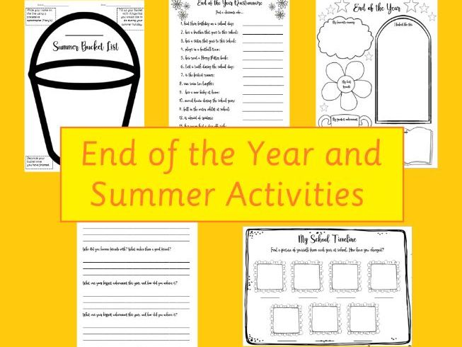 Summer/End of Term/Year Class Questionnaire KS1/2