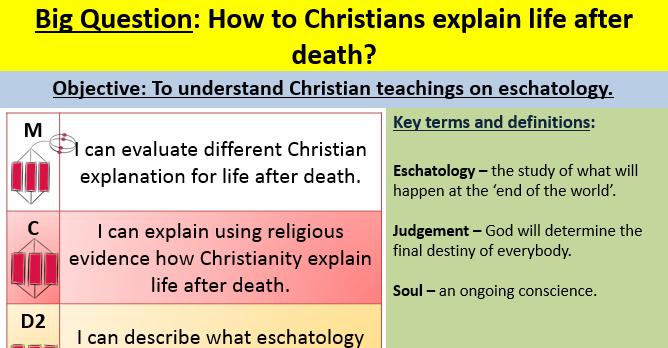 Eschatology - EDEXCEL GCSE (9-1) RS Spec B Paper 1 -Religion and Ethics  lesson